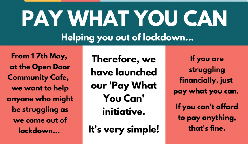 'Pay What You Can' at Open Door Community Café