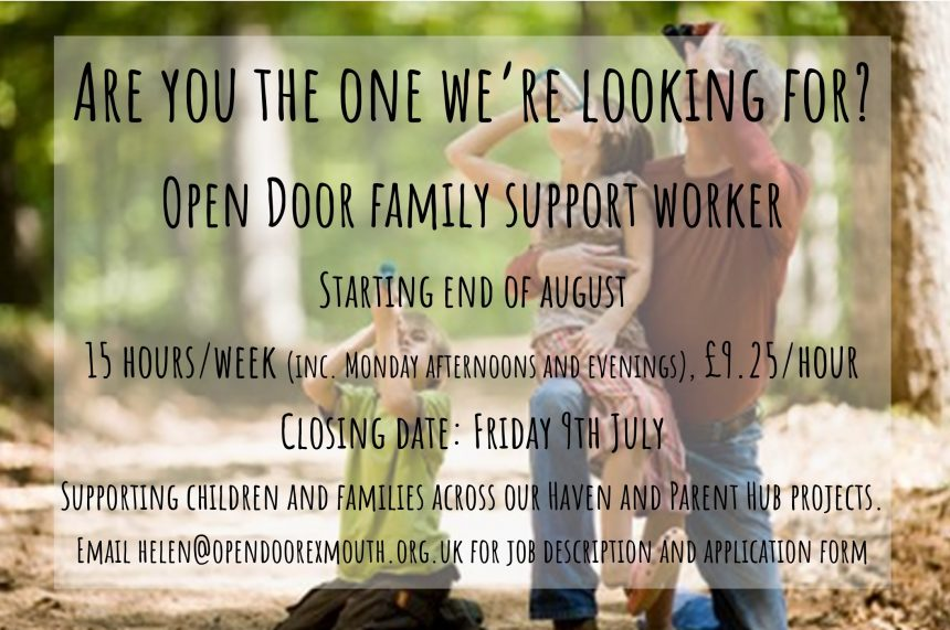 We're hiring! Family Support Worker for Haven and Parent Hub
